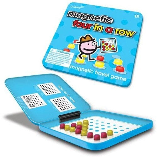 Toysmith - 8161 | Go Play: Magnetic Four In A Row Travel Game