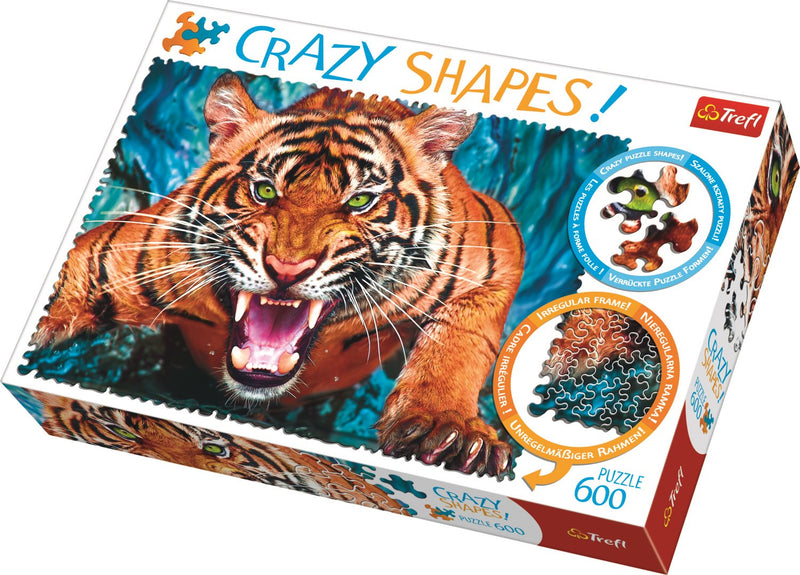 Trefl - 11110 | Facing a Tiger 600 Crazy Series Piece Puzzle