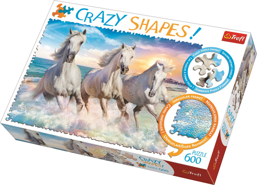 Trefl - 11111 | Crazy Shapes: Galloping Among the Waves - 600 PC Puzzle