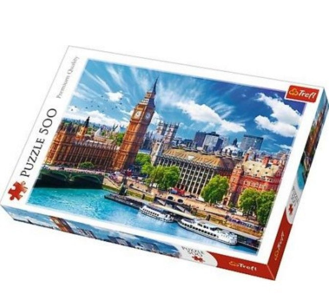 Trefl - 11114 | Sunny Day in London 500 Piece Puzzle