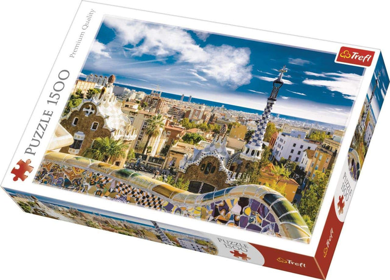 Trefl - 26147 | Park Guell, Barcelona - 1500 PC Puzzle