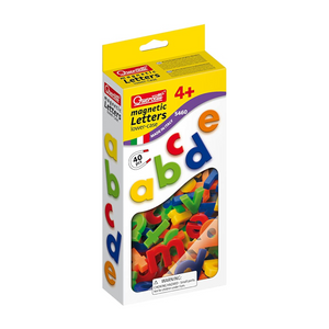 Quercetti - 5462 | Magnetic Lower Case Letters (40 Pieces)