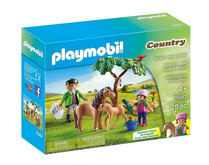 Playmobil - 5687 | Country: Vet With Pony And Foal