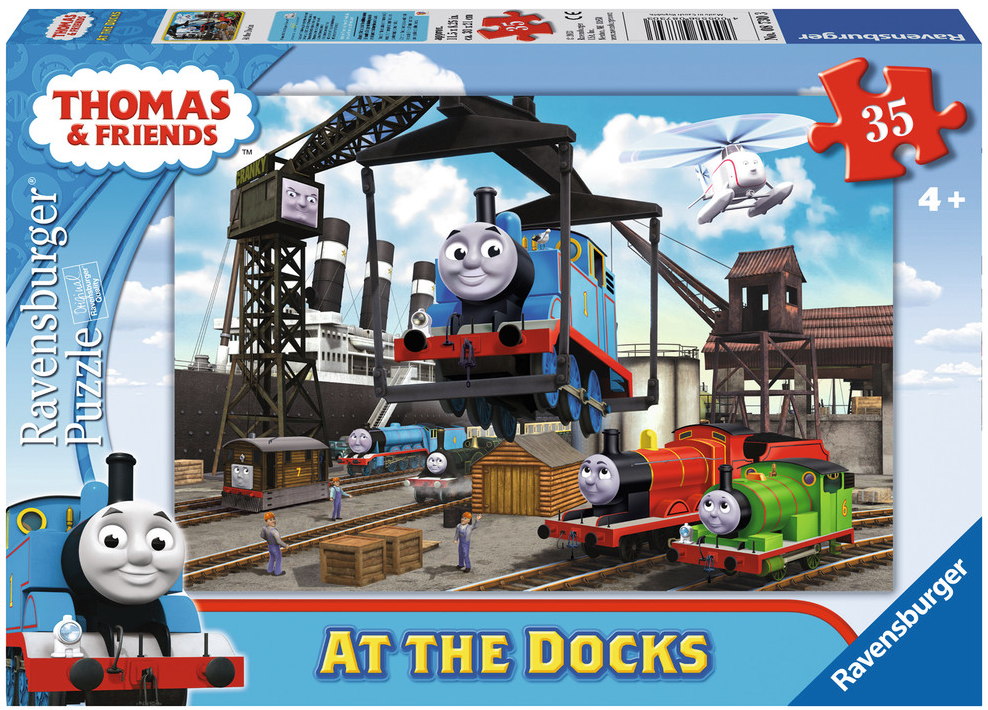 Ravensburger - 08730 | Thomas The Tank Engine: At The Docks (35 pc Puzzle)