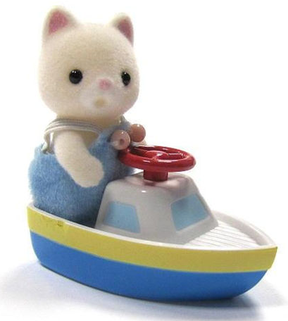 Calico Critters - CC1965 | Baby Carry Case: Cat with boat