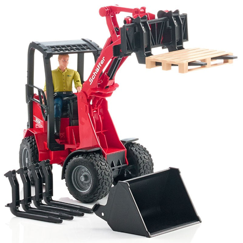Bruder - 02191 | Agriculture: Schaeffer Compact Loader With Figure And Accessories