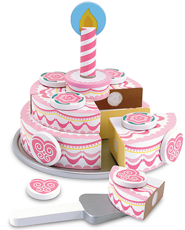 Melissa & Doug 14069 Wooden Triple Layer Party Cake