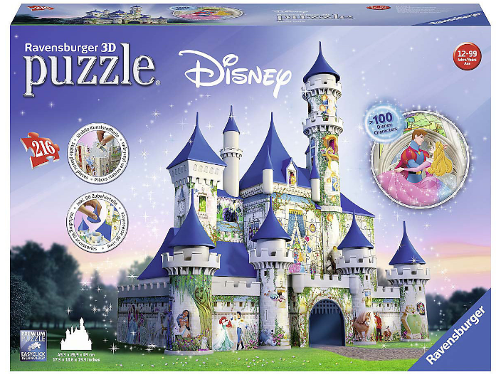 Ravensburger - 3D Disney Castle 216 Piece Puzzle