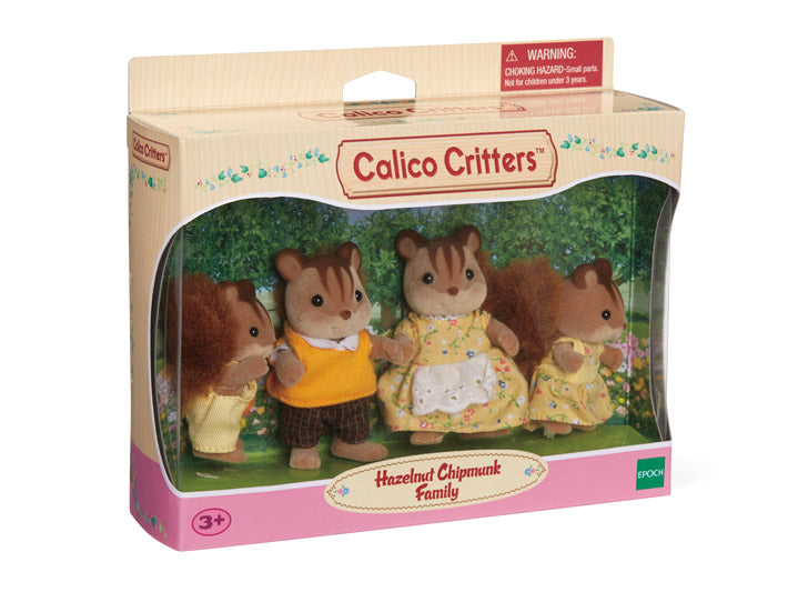 Calico Critters - CC1480 | Hazelnut Chipmunk Family Playset