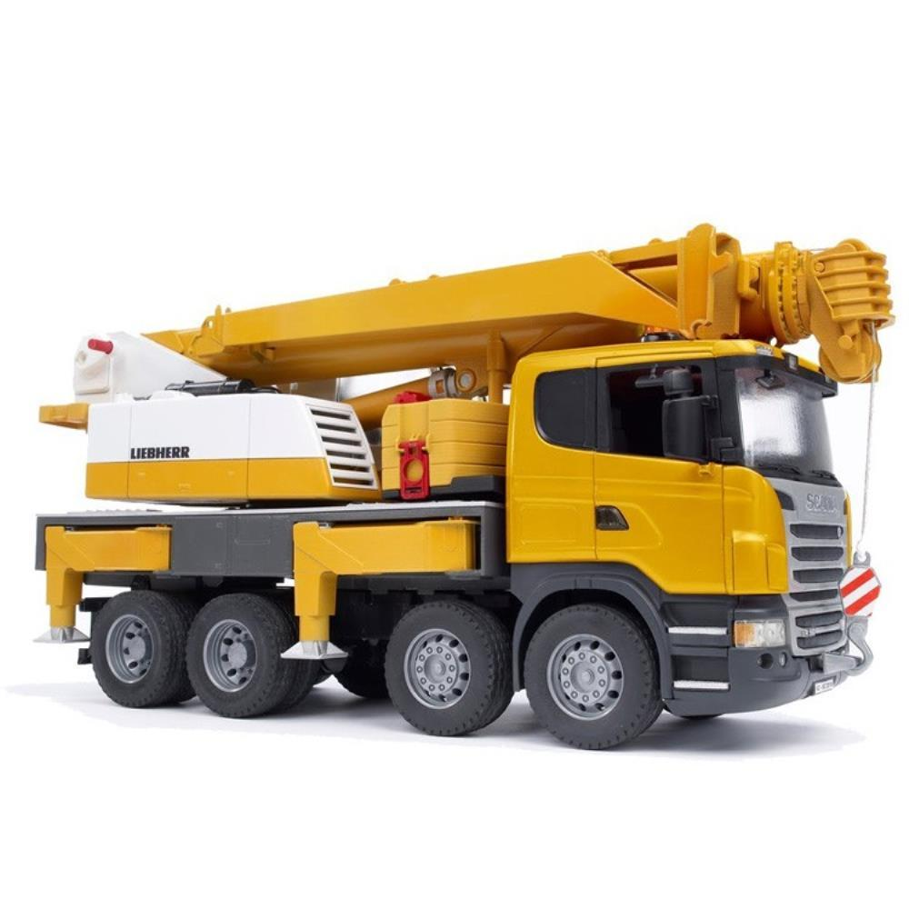 Bruder - 03570 | Construction: SCANIA R-Series Liebherr Crane Truck With Lights And Sound
