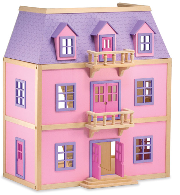 Melissa & Doug - 4570 | Multi-Level Solid Wood Dollhouse