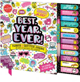 KLUTZ BEST.YEAR.EVER! PLANNER & GRATITUDE JOURNAL Castle toys
