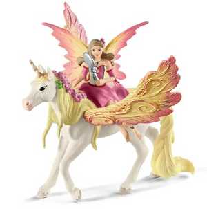 Schleich - 70568 | Bayala: Fairy Feya With Pegasus Unicorn