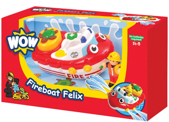 WOW Toys - 01017 | Fireboat Felix - Bath Toys (2 Piece Set)