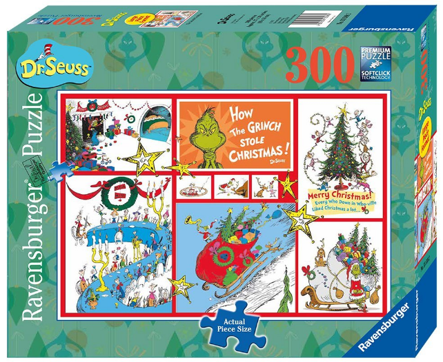 Ravensburger - 13588 | Jigsaw Puzzle Dr Suess The Grinch 300 Pcs