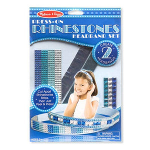 Melissa & Doug - Press-On Rhinestones Headband Set