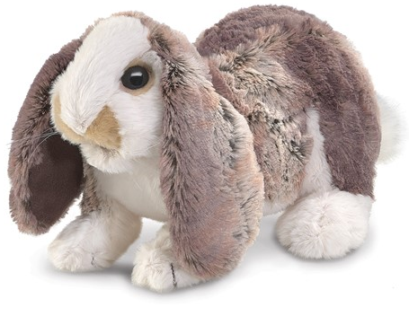 Folkmanis Puppets - 3048 | Baby Lop Rabbit Puppet