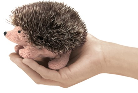 Folkmanis Puppets - 2668 | Mini Hedgehog Finger Puppet