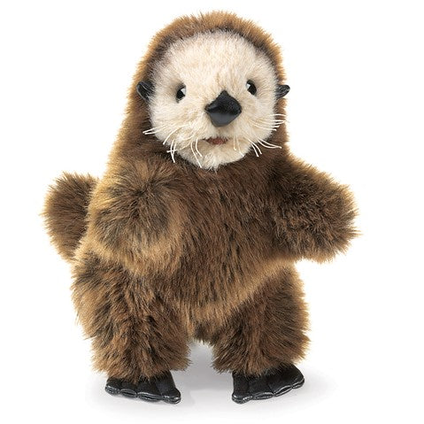 Folkmanis Puppets: Mini Sea Otter Finger Puppet