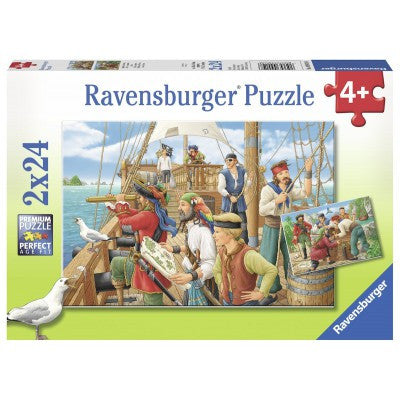 Ravensburger 2X24 Pieces Puzzle With The Pirates - 09019