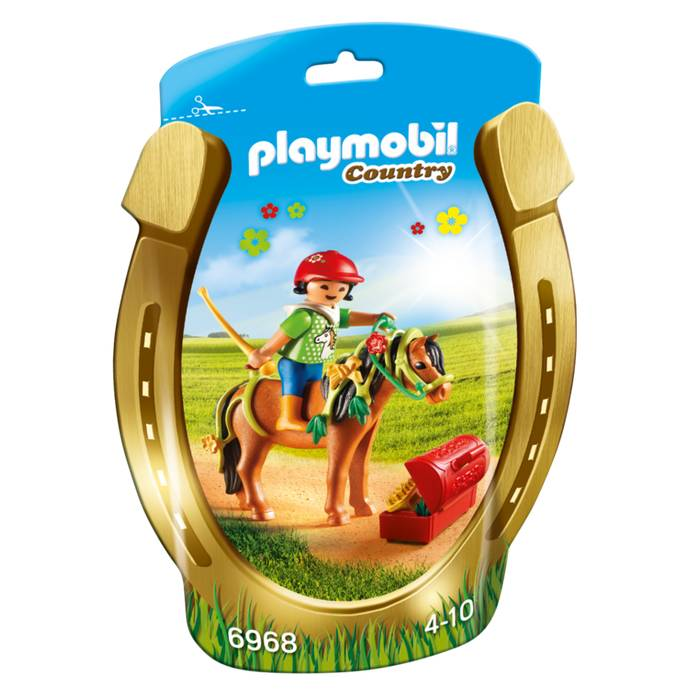 Playmobil - 6968 | Country: Groomer With Bloom Pony
