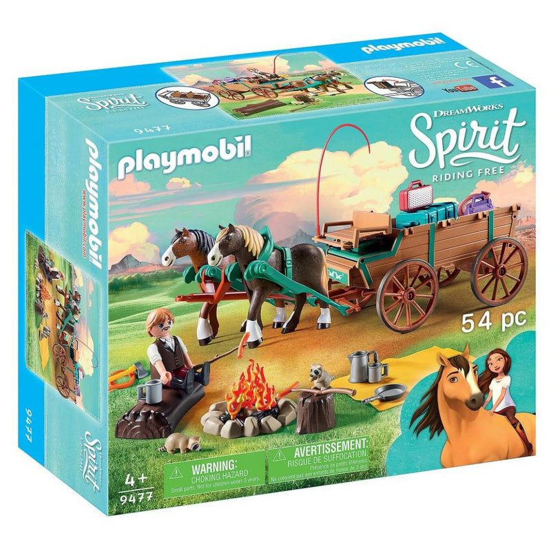 Playmobil - 9477 | Spirit: Lucky's Dad and Wagon