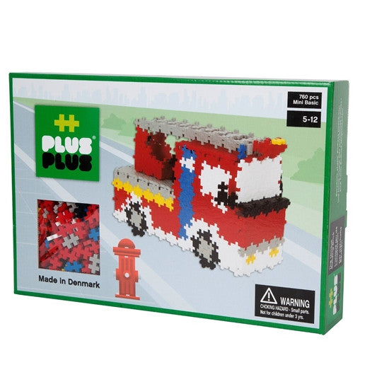 Plus-Plus - P3730 | Fire Truck Construction Set