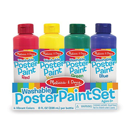 Melissa & Doug - 4127 | Poster Paint Set of 4 Washable And Non-Mess