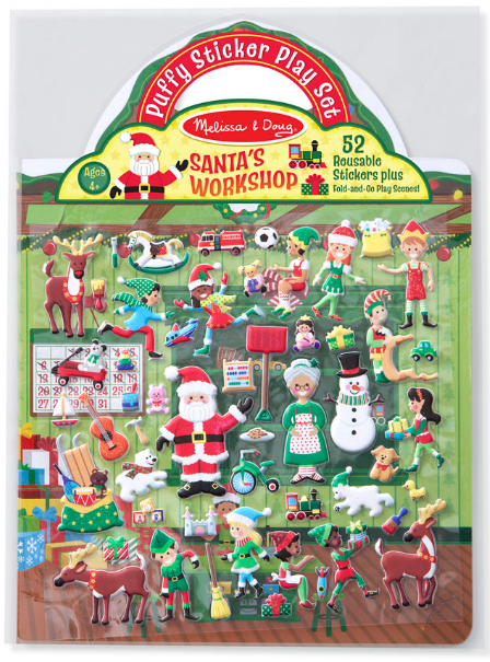 Melissa & Doug - 18585 | Reusable Puffy Stickers: Santa's Workshop