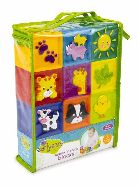 Earlyears Squeak N Stack 9 Soft Blocks