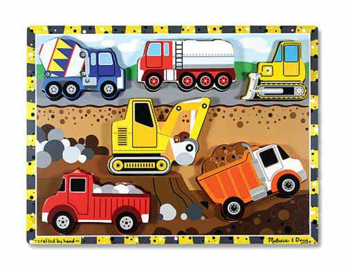 Melissa & Doug 13726 Chunky Wooden Puzzle - Construction