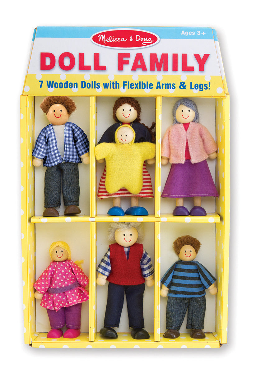 Melissa & Doug 12464 Wooden Doll Family 7 Pieces