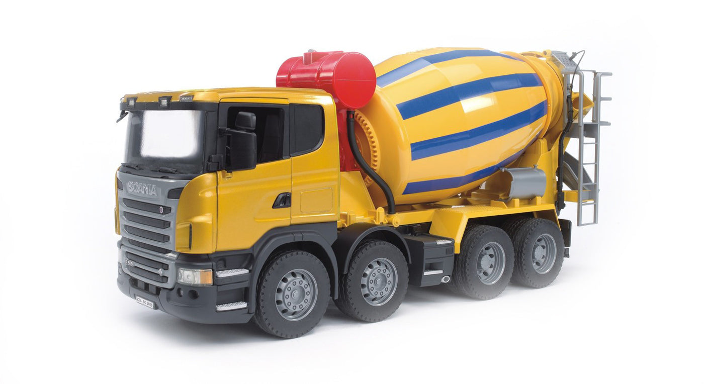Build Your Own Cement Mixer ~ Bruder  construction scania r series cement
