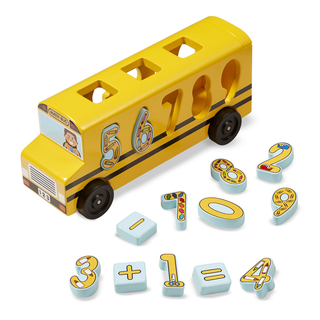 Melissa & Doug 9398 Number Matching Math Bus - Wooden