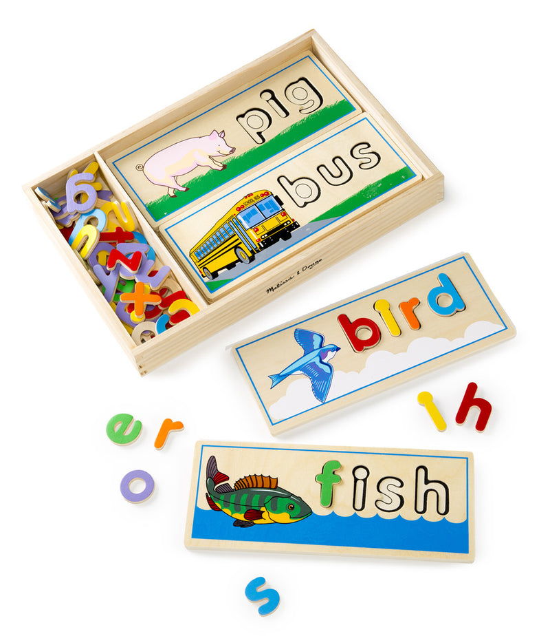 Melissa & Doug 22940 See And Spell Wood Word - Learning Toy