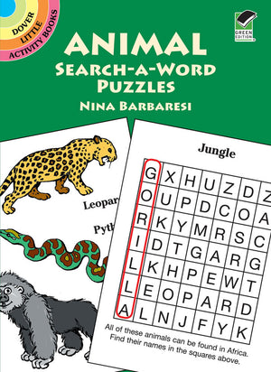 Animal Search A Word Puzzle Book