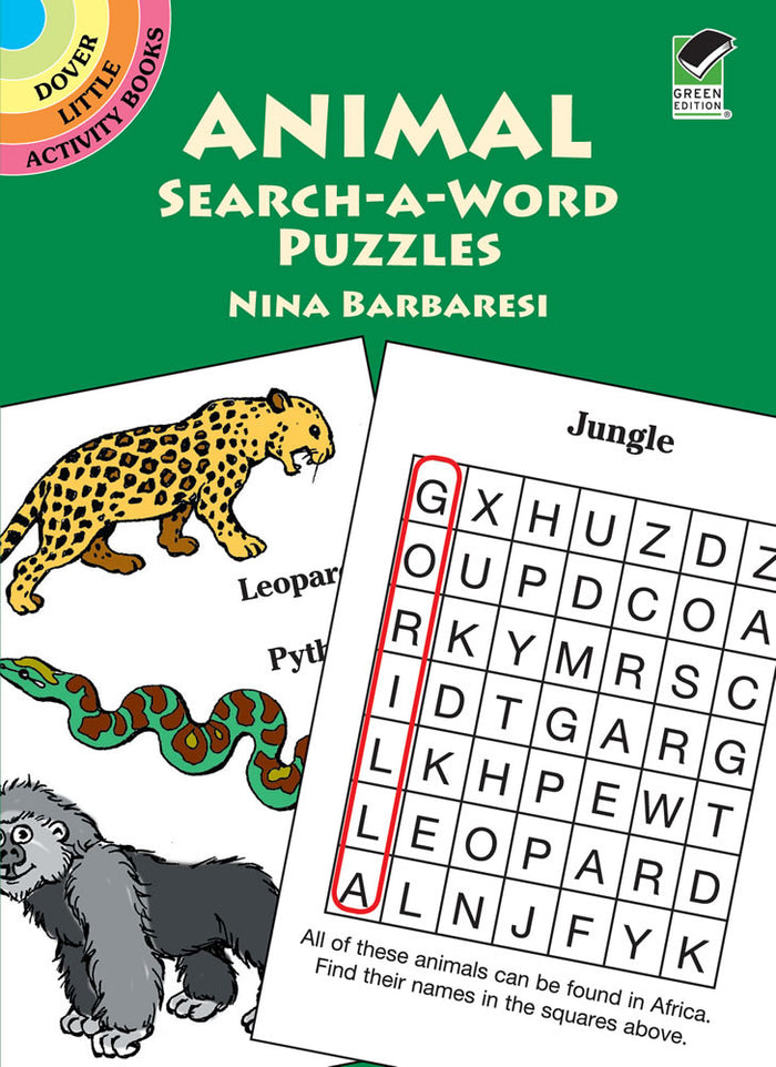 Dover Storybooks - 427676 | Animal Search A Word Puzzle Book
