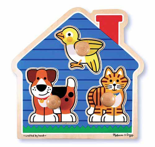 Melissa & Doug 12055 Large Peg Puzzle - House Pets