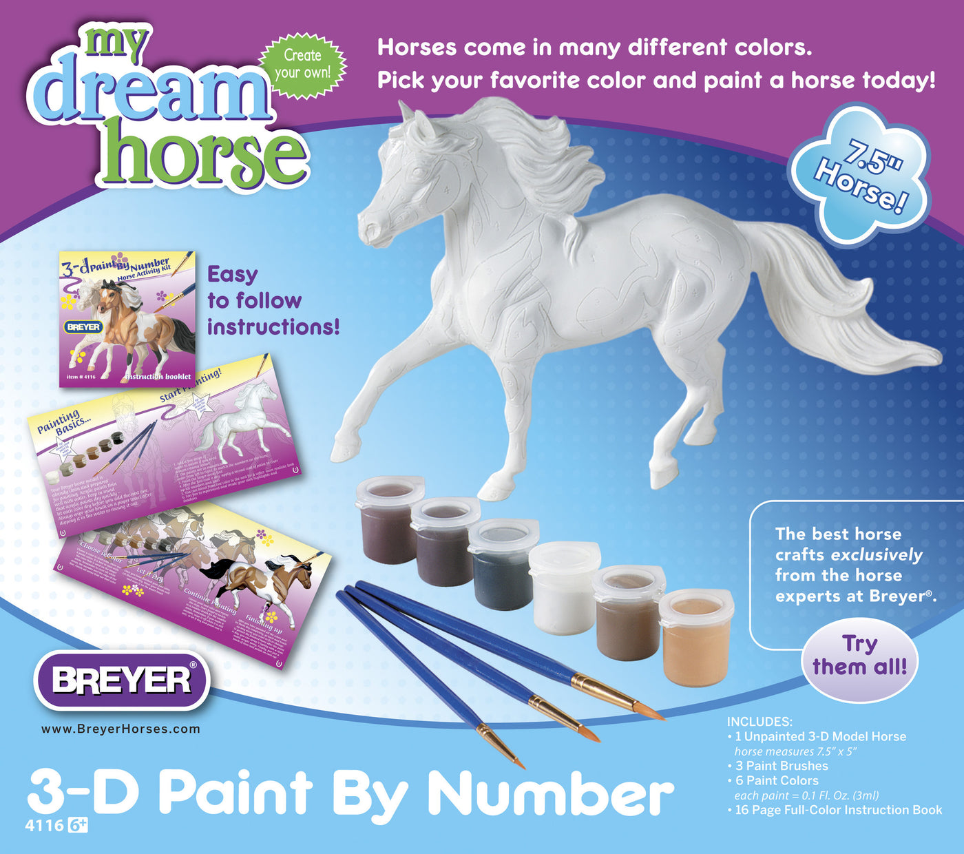 Breyer Horse Paint-by-Number - 4116 – Castle Toys