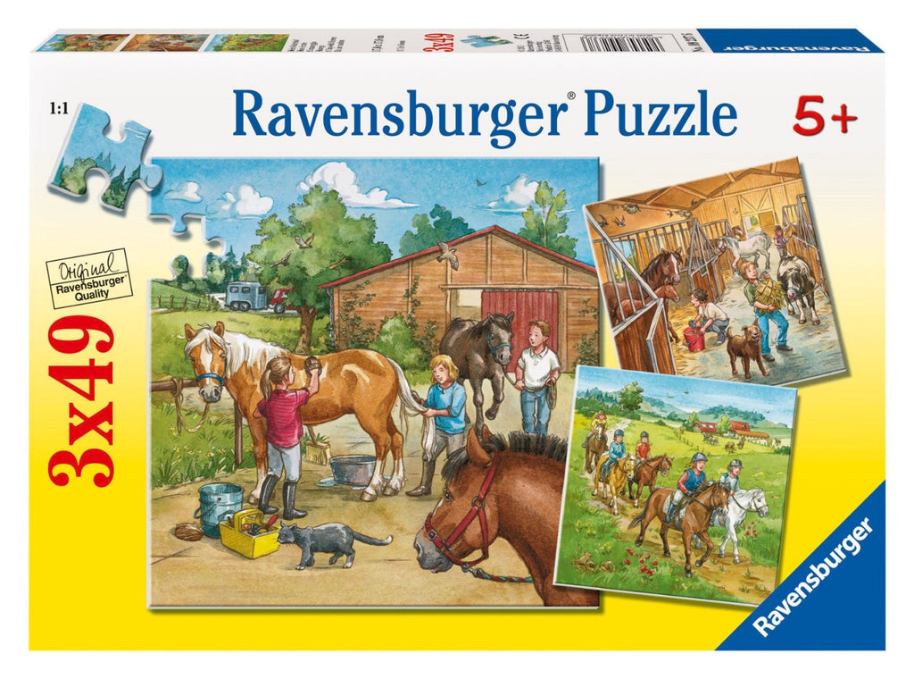 Ravensburger 3X49 Pieces Puzzle A Day With Horses - 09237