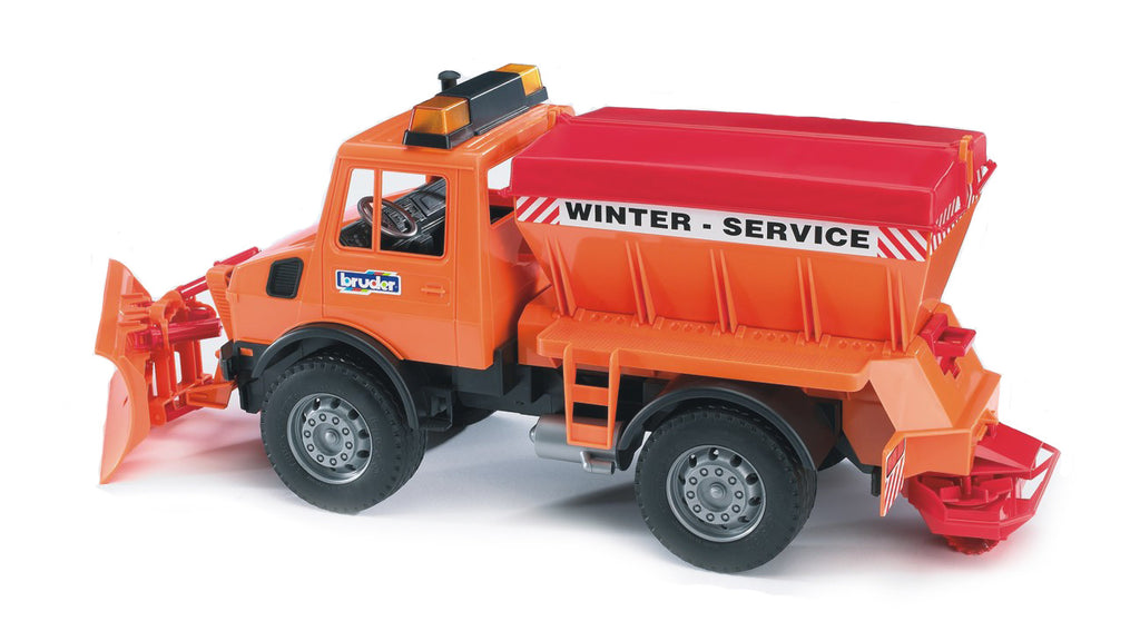 Bruder - 02572 | Commercial: MB-Unimog Winter Service With Snow Plough