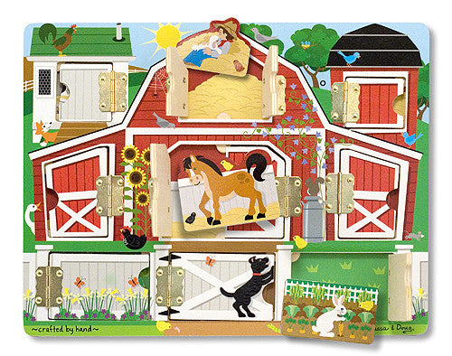 Melissa & Doug 14592 Magnetic Farm Hide And Seek Board