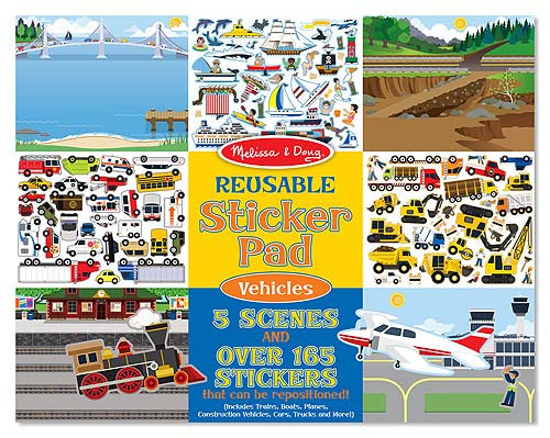 Melissa & Doug 14199 Reusable Sticker Pad - Vehicles