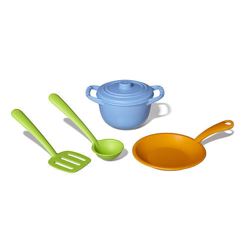 Green Toys 4 Pieces Chef Dish Set - Chf01R