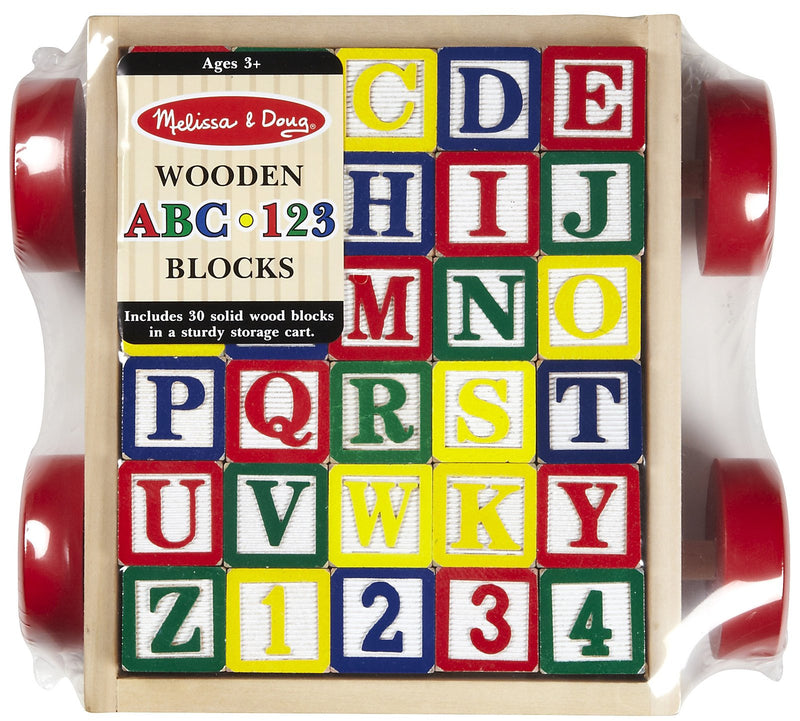 Melissa & Doug 21169 Classic ABC Block Cart Wooden