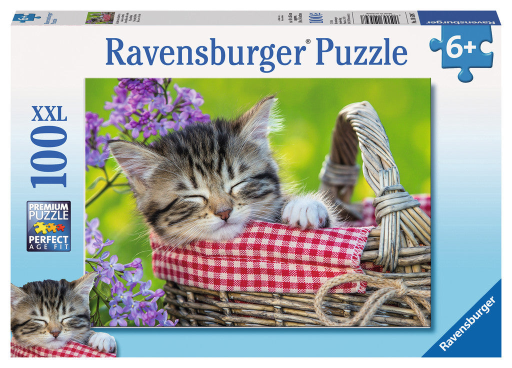Ravensburger 100 Pieces Puzzle Sleeping Kitten - 10539