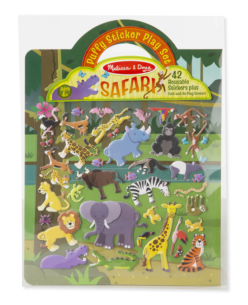 Melissa & Doug 9106 Reusable Puffy Stickers - Safari