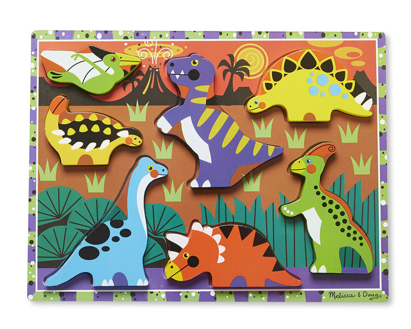 Melissa & Doug 13747 Chunky Wooden Puzzle - Dinosaurs