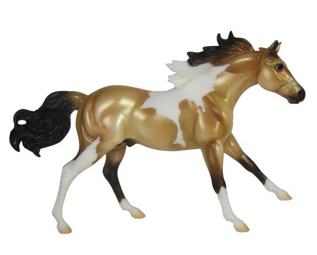 American Paint Horses are known for their colorful coat pattern and stock horse body type. This 1:12 scale model is authentically crafted and hand painted, and is perfect for young collectors