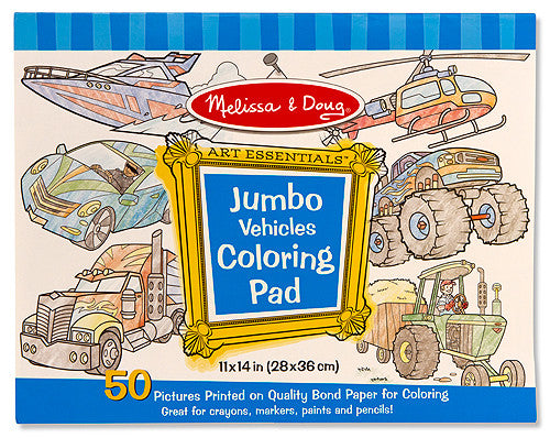 Melissa & Doug 14205 Jumbo Colouring Pad - Vehicles